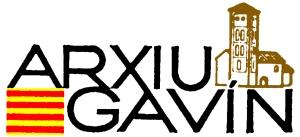 Logotip de l'Arxiu Gavín amb els dos elements que representen l'arxiu