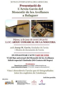 Presentació de l'Arxiu Gavín a Balaguer